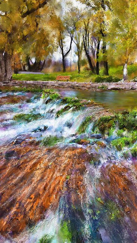 Giant Springs Art Print featuring the digital art Giant Springs 2 by Susan Kinney