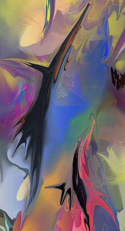 Abstract Art Print featuring the painting Optimism Closeup 4 by Peter Shor