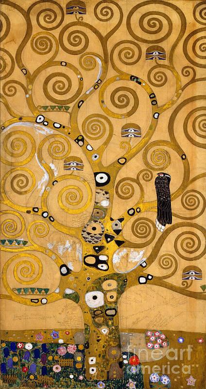 Klimt Art Print featuring the painting Tree of Life by Gustav Klimt