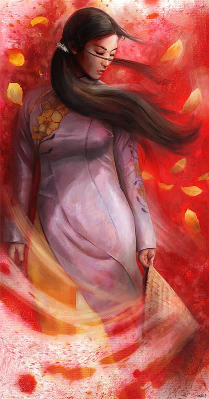 Vietnam Art Print featuring the mixed media Vietnam by Steve Goad