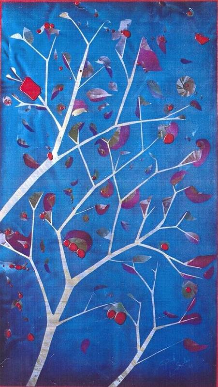 Winter Art Print featuring the painting Winter Tree by Rick Silas