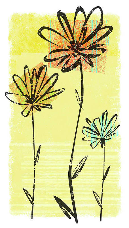 California Art Print featuring the digital art Flowers In Springtime by Harry Briggs