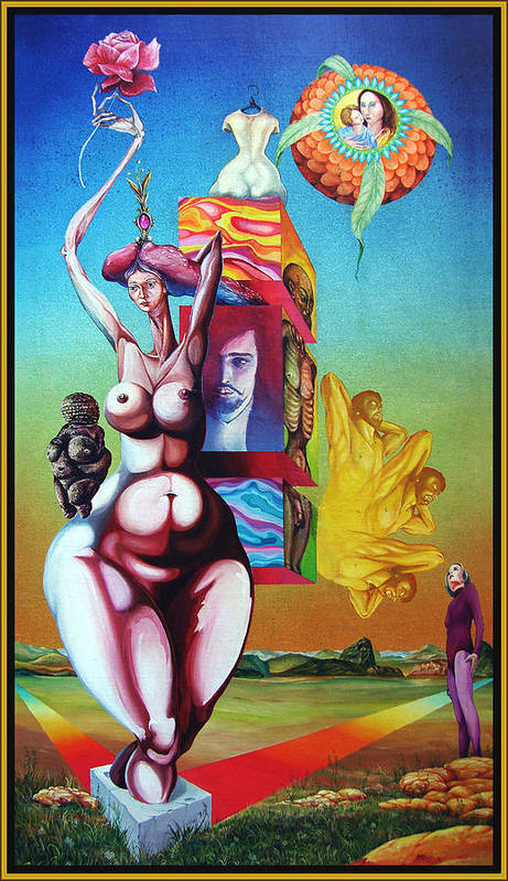Surrealism Art Print featuring the painting Magna Mater by Otto Rapp