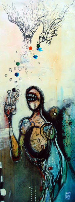 Figure Painting Art Print featuring the painting Separation Of Mind by Mark M Mellon