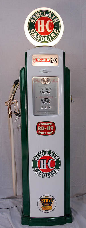 Sinclair Antique Art Print featuring the photograph Sinclair Antique Gas Pump by David Campione