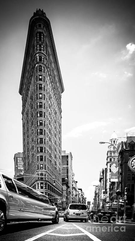 Nyc Art Print featuring the photograph Big In The Big Apple - Bw by Hannes Cmarits