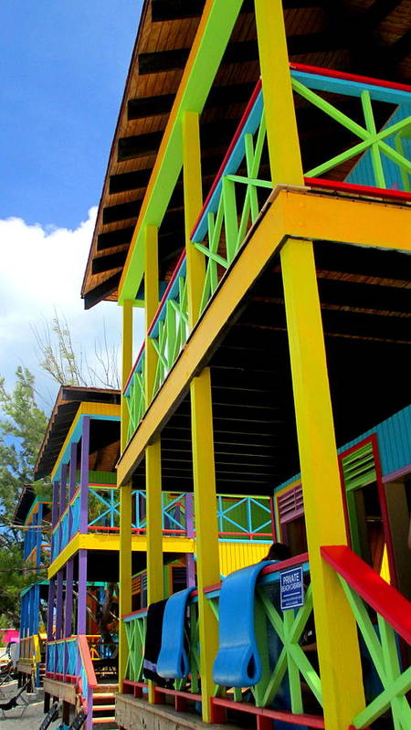Caribbean Corner Art Print featuring the photograph Caribbean Porches by Randall Weidner