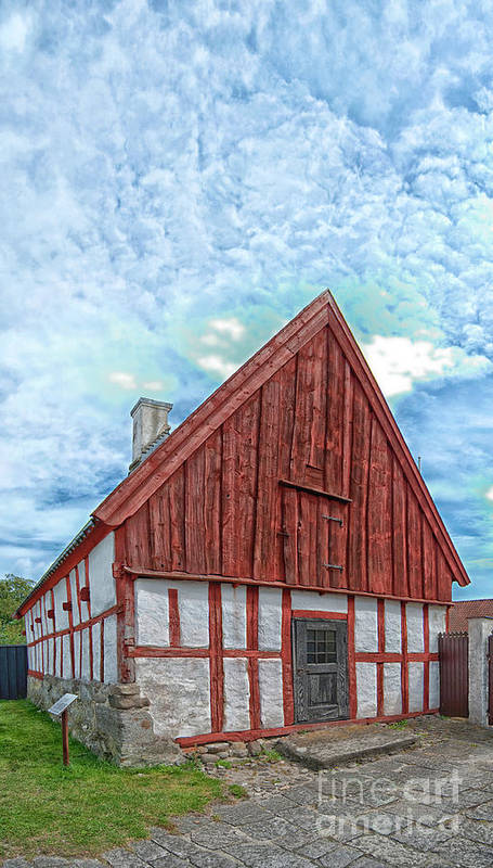 Ahus Art Print featuring the photograph Medieval Building by Antony McAulay