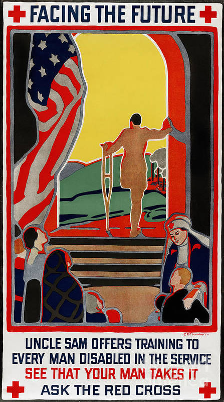 1919 Print featuring the photograph Red Cross Poster, 1919 by Granger