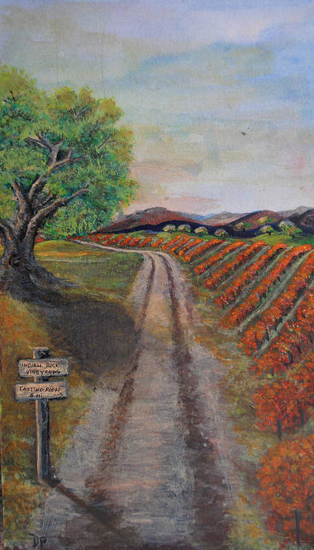 Wine Print featuring the painting Tasting Room by Dixie Adams