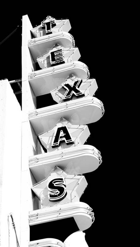 Texas Theater Art Print featuring the photograph Texas Theater by Darryl Dalton