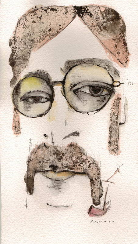 The Beatles Art Print featuring the painting The Walrus As John Lennon by Mark M Mellon