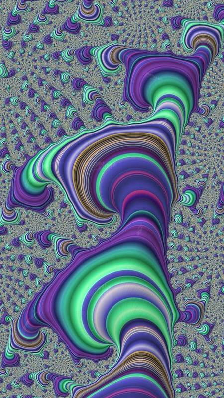 Fractal Art Print featuring the digital art Wriggle Thru Time by Ron Bissett