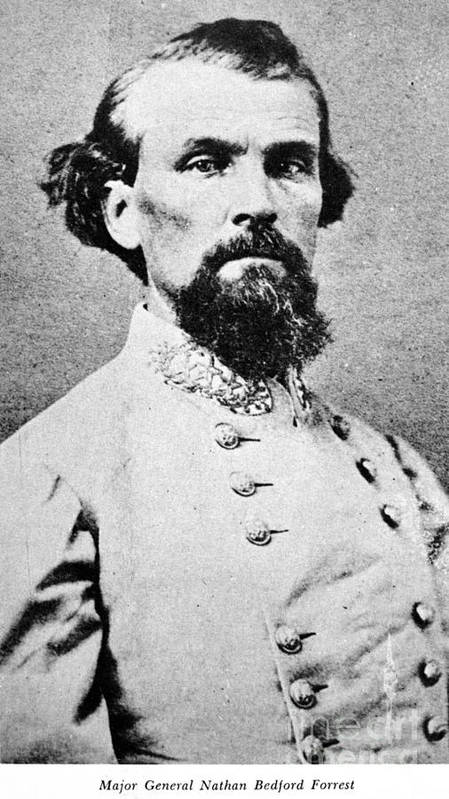 1864 Art Print featuring the photograph Nathan Bedford Forrest by Granger