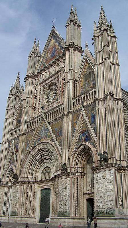 Europe Art Print featuring the photograph Orvieto Cathedral by Cathryn Brown