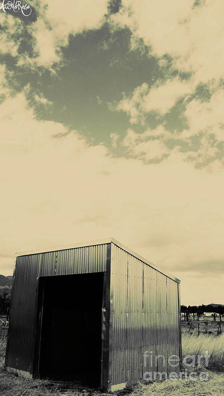 Outdoors Art Print featuring the photograph The Shed by Awildrose Photography