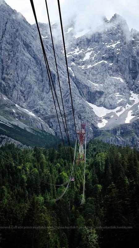 Mountain Art Print featuring the photograph Zugspitze by Joshua Karthik Rallapati