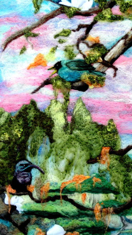 Felt Art Print featuring the tapestry - textile Detail Of Spring by Kimberly Simon