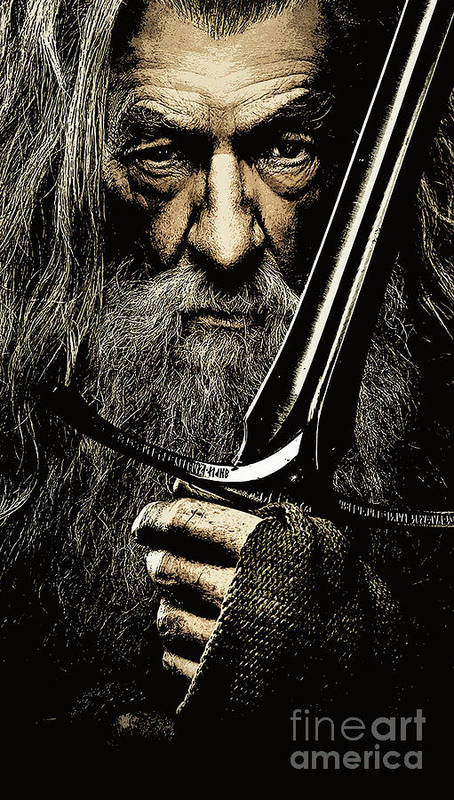 The Hobbit Art Print featuring the photograph The Leader Of Mankind - Gandalf / Ian Mckellen by Prar Kulasekara