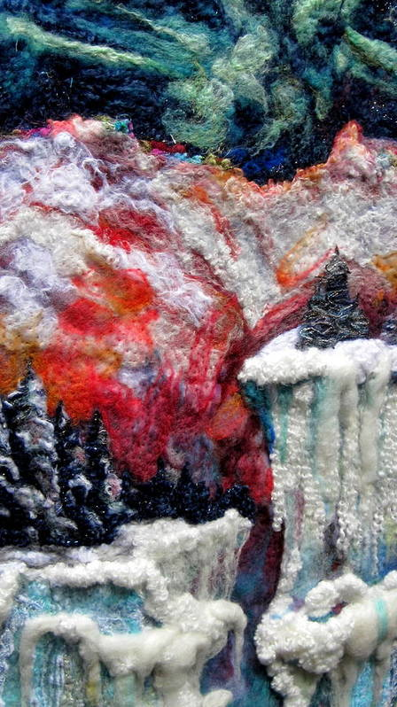 Felt Art Print featuring the tapestry - textile Detail Of Winter by Kimberly Simon