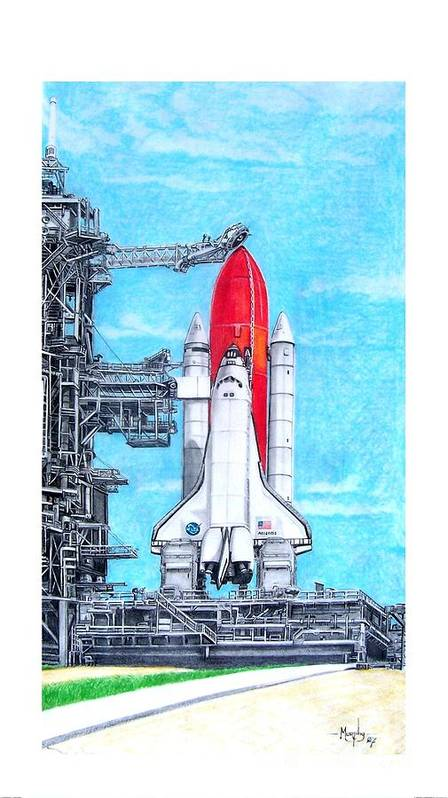 Drawing Art Print featuring the drawing Atlantis by Murphy Elliott