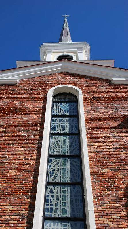 Architecture Art Print featuring the photograph Brick Church by Rob Hans