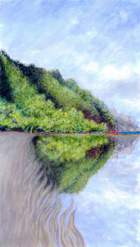 Coastal Decor Art Print featuring the painting Reflection by Kenneth Grzesik