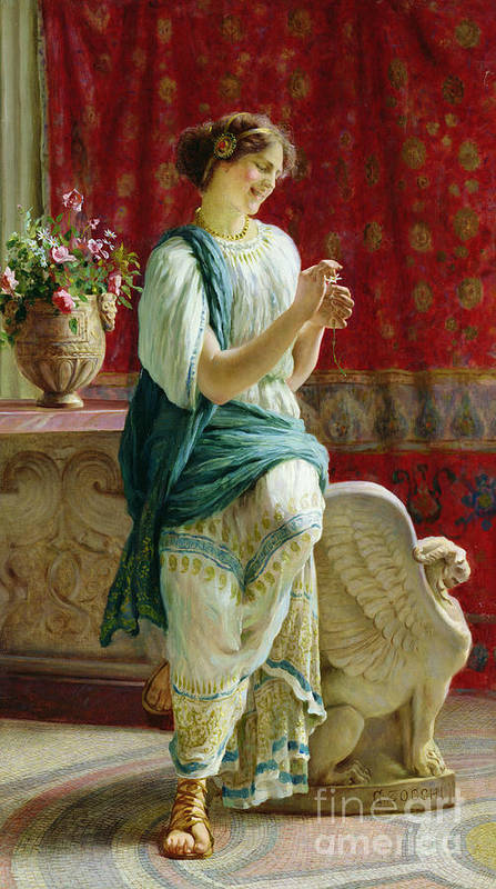 Roman Art Print featuring the painting Roman Girl by Guglielmo Zocchi