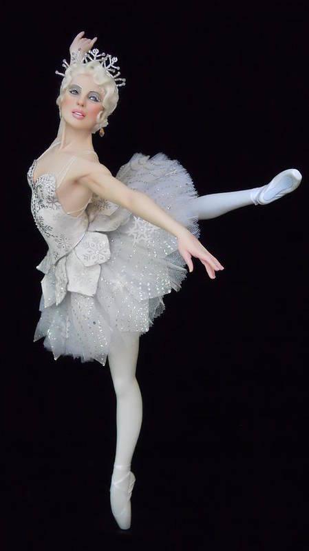 Ballet Art Print featuring the sculpture Snow Queen by Vickie Arentz