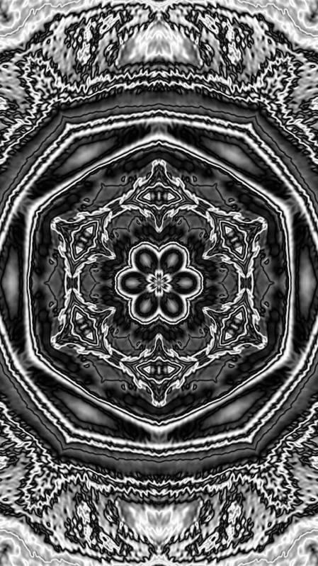 Graphic Art Art Print featuring the digital art Snowflake 6 by Belinda Cox