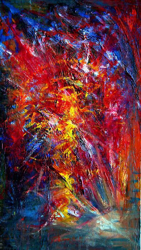Colour Art Print featuring the painting Something II by Wojtek Kowalski