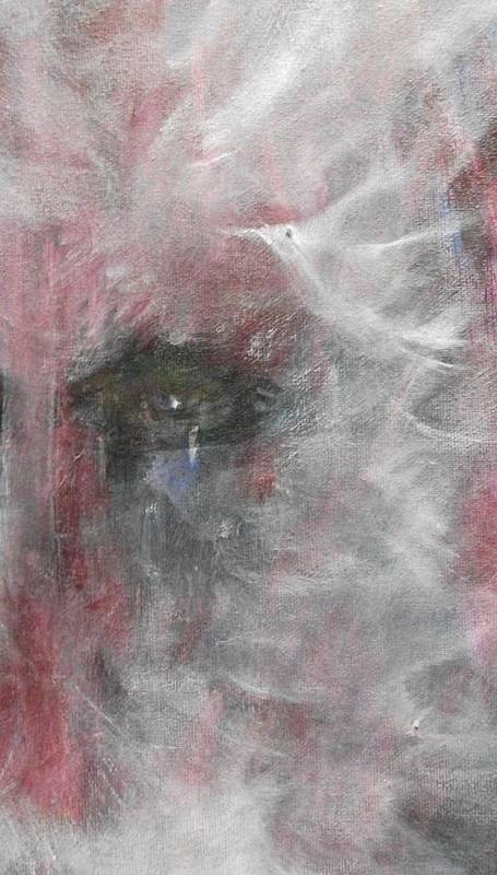Eyes Art Print featuring the painting Sorrow by Randall Ciotti