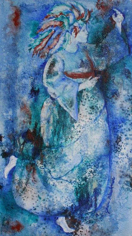 Abstract Art Print featuring the painting Star Dancer by Jean Blackmer