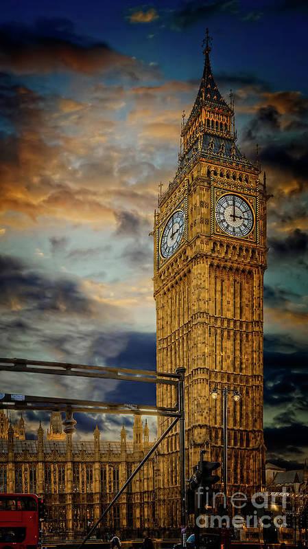 Big Ben Art Print featuring the photograph Big Ben London City by Adrian Evans