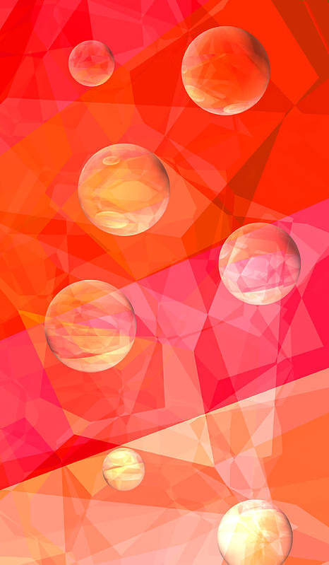 Abstract Art Print featuring the digital art Dream A Little Dream by Wendy J St Christopher
