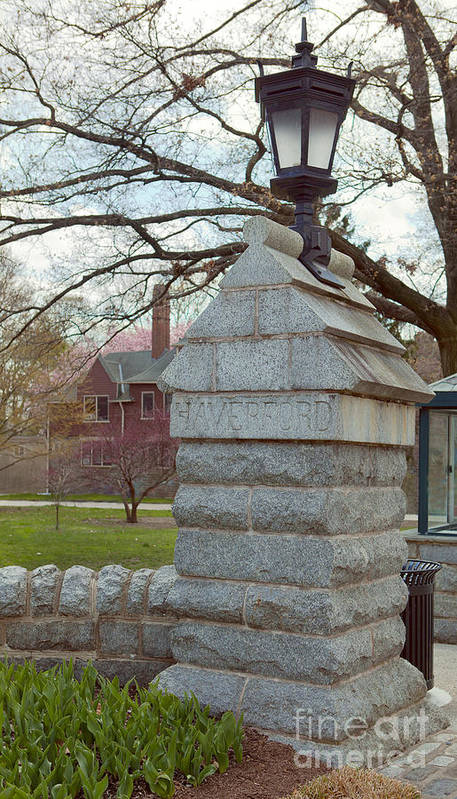 Haverford College Art Print featuring the photograph Haverford College Entrance by Kay Pickens