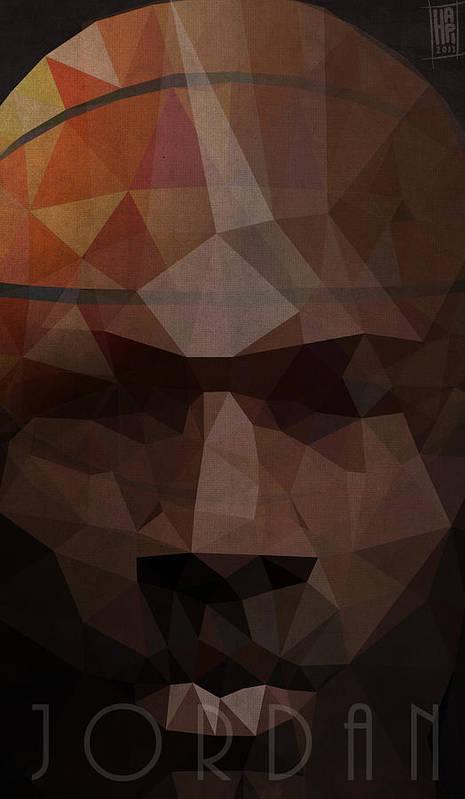 Micheal Print featuring the digital art Jordan by Daniel Hapi