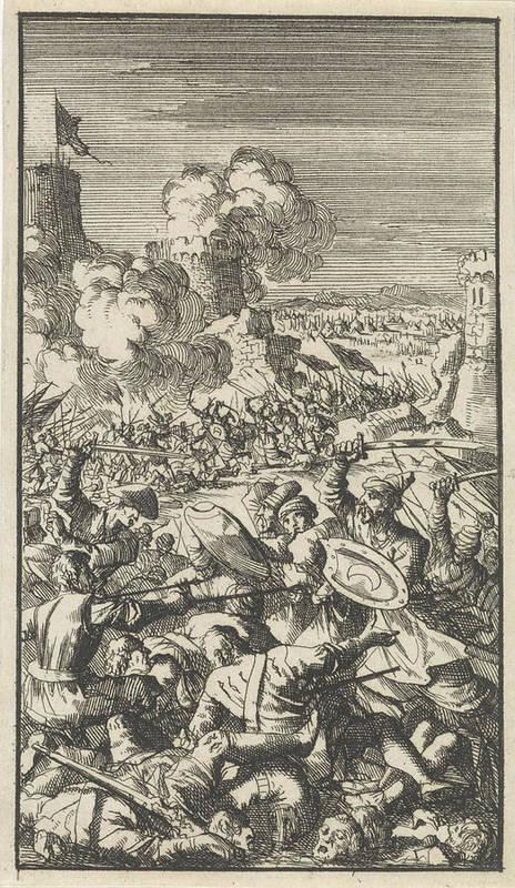 Siege Of Nicosia By The Ottoman Army 1570 Art Print By Jan Luyken