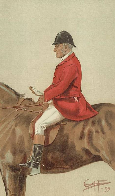 Caricature; William Ward Tailby; Leicestershire Man; 6 April 1899; Vanity Fair; Cartoon; Horse; Hunt; Hunting Art Print featuring the painting William Ward Tailby by Sir Samuel Luke Fildes