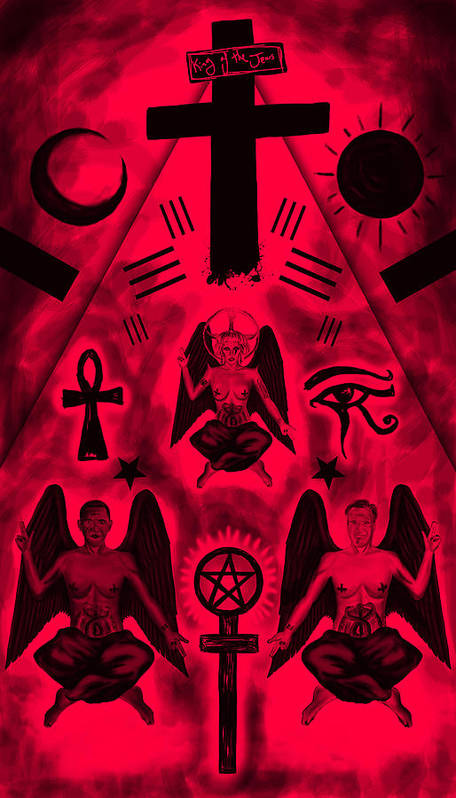 Revelation 666 Art Print featuring the drawing Revelation 666 by Kenal Louis