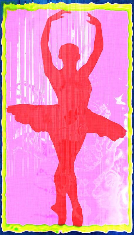 Ballet Dancer Ballerina Dancers Performer Performance Dancing Arts Dance Abstract Art Paul Art Print featuring the photograph Ballet Dancer by David G Paul