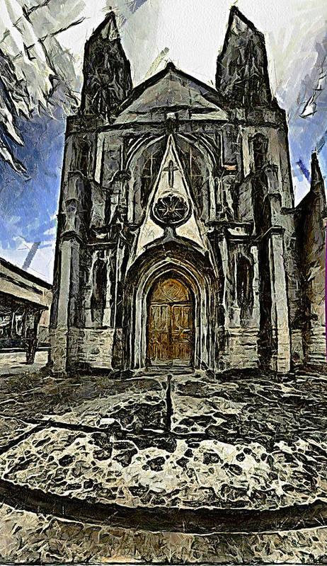 Gotic Art Print featuring the photograph Gotic Church by Galeria Trompiz