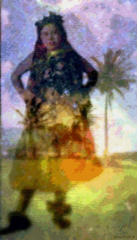 Tropical Interior Design Art Print featuring the photograph Aluna Ahiahi Hula by Kenneth Grzesik