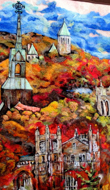 Felt Art Print featuring the tapestry - textile Detail Of Fall by Kimberly Simon