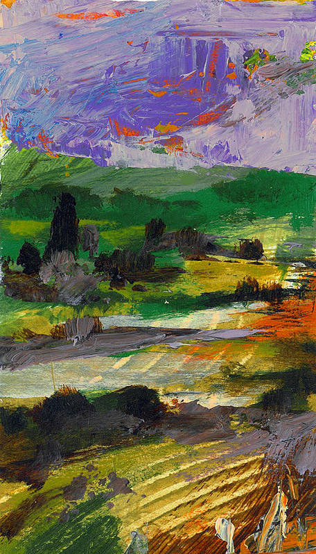 Landscape Art Print featuring the painting Hillside Pastures by Dale Witherow