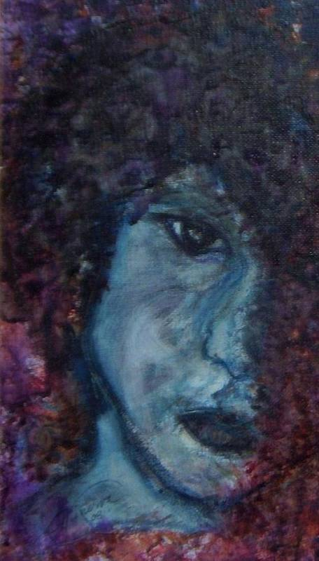 Jim Morrison Art Print featuring the painting Indian Summer Dream Detail by Cathy Minerva