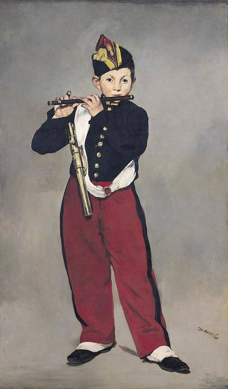 French Art Print featuring the painting The Fifer by Edouard Manet