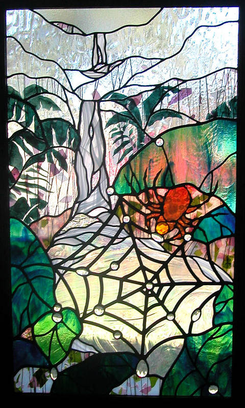 Glass Art Print featuring the glass art After The Rain by Christine Alexander