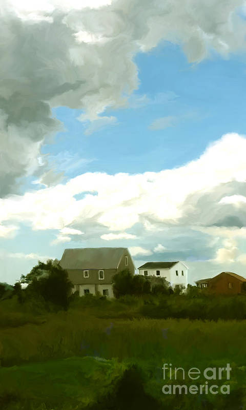 Cape Art Print featuring the painting Cape House by Paul Tagliamonte