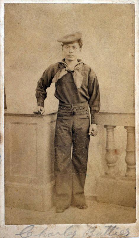 1860s Art Print featuring the photograph Civil War. A Negro Sailor, Charles by Everett